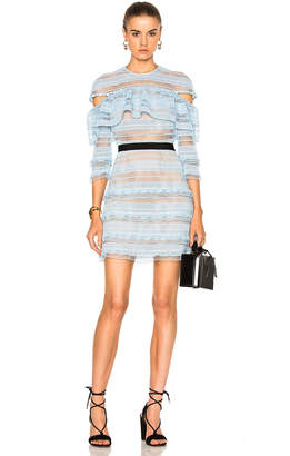 self-portrait Stripe Grid Mini Dress $475 thestylecure.com