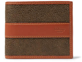 Mulberry Leather-Trimmed Pebble-Grain Coated-Canvas Billfold Wallet - Army green