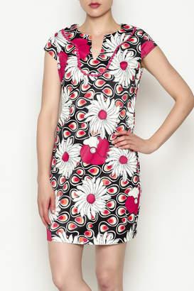 Jade Trim Neck Chemise Dress