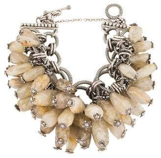 Stephen Dweck Rutilated Quartz Bead Bracelet
