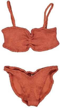 Hunza G Orange Synthetic Swimwear