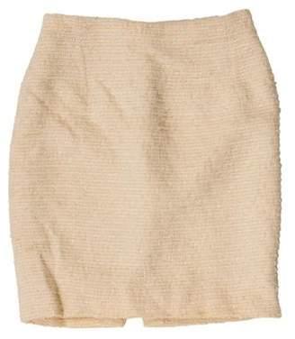 Gianni Versace Metallic Tweed Skirt