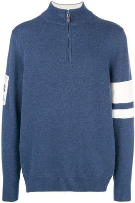 N.Peal Ski Badge half zip jumper