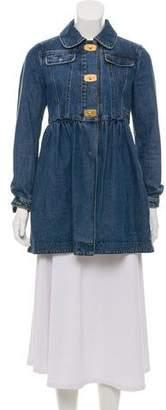 Miu Miu Denim Collared Jacket