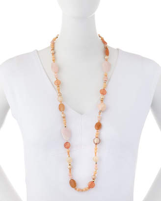 Nakamol Long Mixed-Bead Necklace