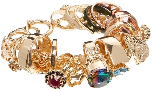Asos Ring Charm Bracelet - Multi
