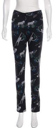 Leonard Printed Mid-Rise Pants