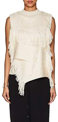 AKIRA NAKA Women's Layered Fringed Sleeveless Sweater