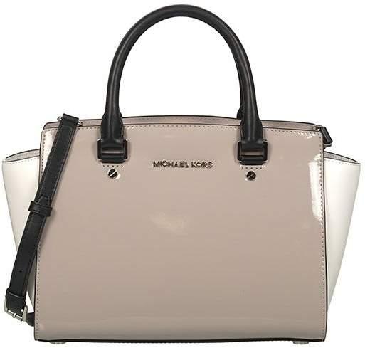Michael Kors Women's Selma Bowling Bag - DK-CEMENT - STYLE