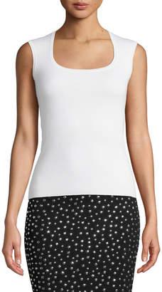 Michael Kors Cap-Sleeve Cashmere Top