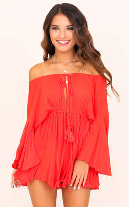 Showpo Montana playsuit in red