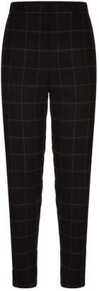 Akris Florin Grid Flannel Trousers