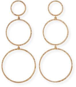Siena Jewelry 14k Rose Gold Diamond 3-Hoop Earrings