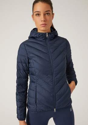 Emporio Armani Ea7 Technical Fabric Down Jacket
