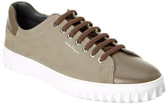 Salvatore Ferragamo Clyde Suede & Leather Sneaker