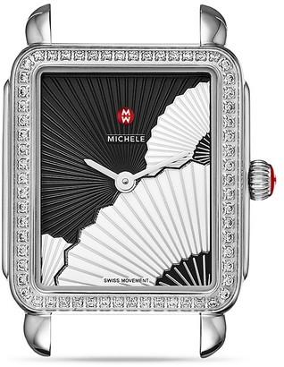MICHELE Deco II Fan Diamond Dial Watch Head, 26 x 27.5mm $1,595 thestylecure.com