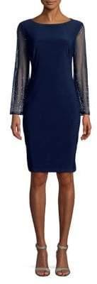 Cachet Embellished Sleeve Midi Dress