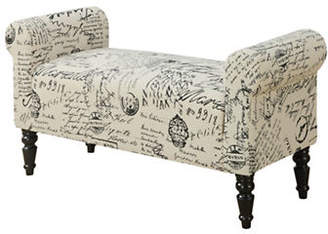 Monarch French Fabric Bench