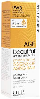 BEIGE Agebeautiful 9WB Light Warm Blonde Liquid Permanent Haircolor