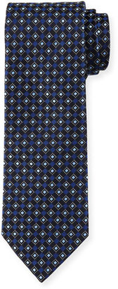Boss Hugo Boss Neat Diamond-Box Printed Silk Tie, Navy $95 thestylecure.com