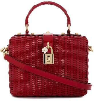 Dolce & Gabbana Portofino raffia mini shoulder bag