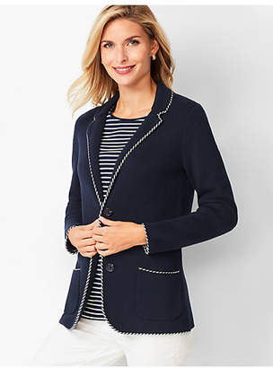 Talbots Tipped Sweater Jacket