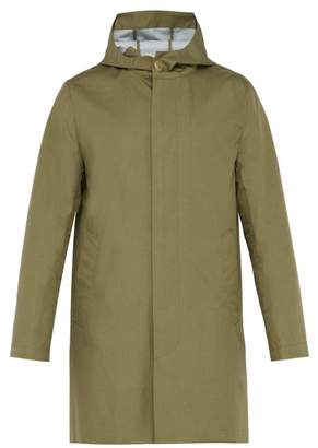 MACKINTOSH Loro Piana Hooded Bonded Cotton Overcoat - Mens - Khaki