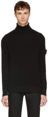 Stone Island Black Arm Badge Turtleneck