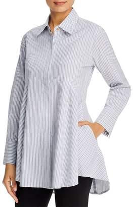 Donna Karan Icon Striped Tunic Blouse