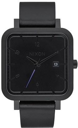 Nixon 'Ragnar' Leather Strap Watch, 36Mm $225 thestylecure.com