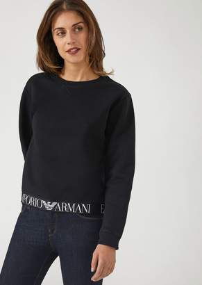 Emporio Armani Sweatshirt With Branded Elasticated Band On The Bottom Hem