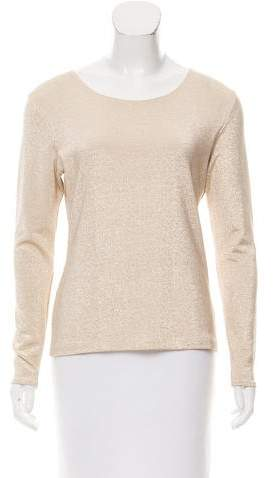Christian Dior Metallic Long Sleeve Top