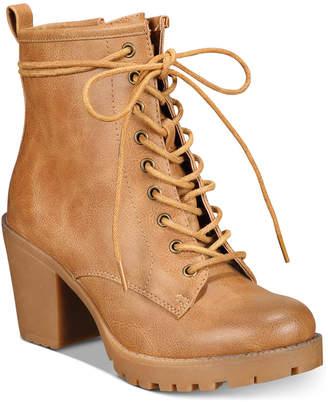 Ziginy Kourtlan Lace-Up Booties Women Shoes