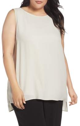 Eileen Fisher Silk Georgette Crepe Top
