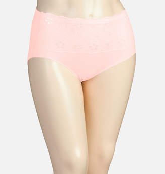 Avenue Ballerina Seamless Full Brief Panty with Lace