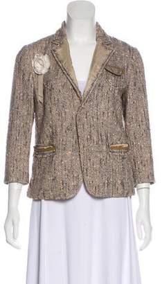 Prada Tweed Notch-Lapel Jacket