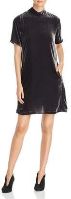 Eileen Fisher Velvet Mock Neck Dress