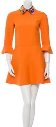 Valentino Wool A-Line Dress w/ Tags Orange Wool A-Line Dress w/ Tags
