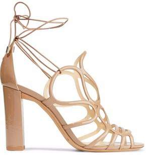 Alexandre Birman Cutout Patent-Leather Sandals