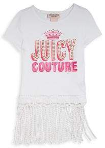 Juicy Couture Girl's Embellished Fringed-Hem Top
