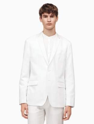 Calvin Klein classic fit linen blend jacket