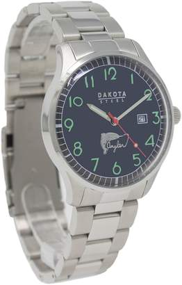 Dakota Men's Quartz Stainless Steel Casual Watch, Color:Silver-Toned (Model: 26144)