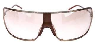 Valentino Oversize Shield Sunglasses
