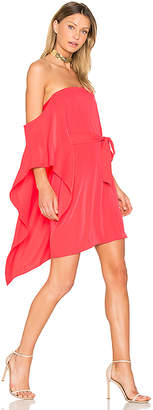 Halston One Sleeve Mini Dress