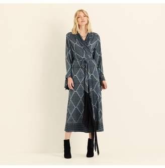 Amanda Wakeley Geo Paisley Printed Wrap Dress