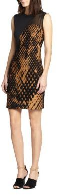 3.1 Phillip Lim Felted Jacquard Pieced Dress