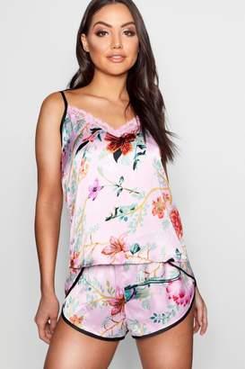 boohoo Oriental Floral Cami & Short Set
