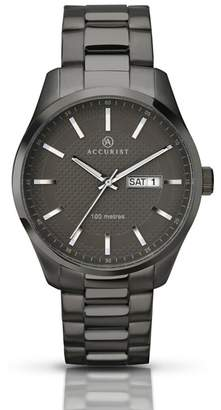 Accurist Men's Gun Metal Bracelet Watch 7058.01