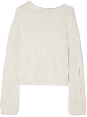 See by Chloe Ribbed-knit Sweater - White