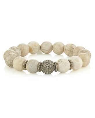 Fossil Sheryl Lowe 12mm Coral & Multi-Pave Diamond Bracelet